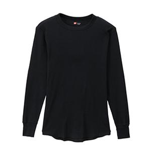 サーマル クルーネックロングスリーブTシャツ 19FW 【秋冬新作】ヘインズ(HM4-Q501)