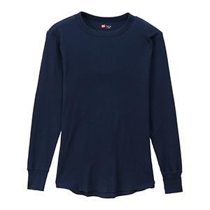 サーマル クルーネックロングスリーブTシャツ 19FW ヘインズ(HM4-Q501)