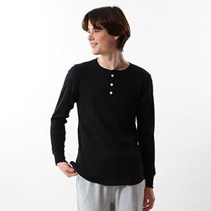 サーマル ヘンリーネックロングスリーブTシャツ 19FW ヘインズ(HM4-Q502)