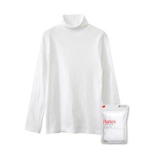 ウィメンズ タートルネックロングスリーブTシャツ 17FW スエードニット ヘインズ(HW4-L502)