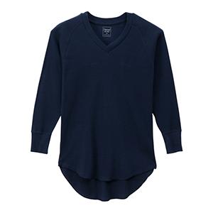 ウィメンズ サーマル VネックTシャツ 19FW 【秋冬新作】Hanes Undies ヘインズ(HW4-Q502)