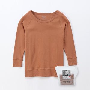 ウィメンズ スウェードニット ウォームTシャツ 19FW 【秋冬新作】Hanes Undies ヘインズ(HW4-Q511)