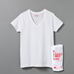 ウィメンズ ジャパンフィット【2枚組】VネックTシャツ 18FW Japan Fit for HER ヘインズ(HW5115)