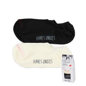 ウィメンズ 2足組 ゴーストソックス 19SS Hanes Undies ヘインズ(HWSBM501)